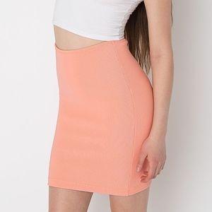 American Apparel peach pencil skirt